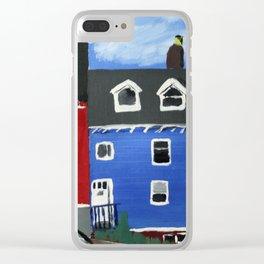 Newfoundland Houses Canada acrylics on canvas Clear iPhone Case