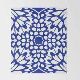 Butterfly Wings: Lapis Throw Blanket