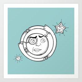 Motor Moon Art Print