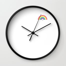 Gay Pride LGBT Rainbow Heart Pop Art 2018 March Sketch Wall Clock