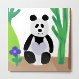 It's a Panda's World of Love Metal Print