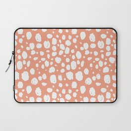 Painterly Dots in Peach and White Laptop Sleeve
