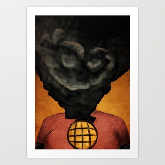 Captain Pollution Art Print