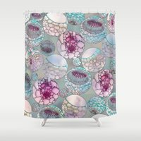 biology Shower Curtains featuring Cell Balls by Klara Acel