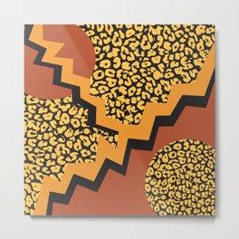 Leopard 80's pattern Metal Print