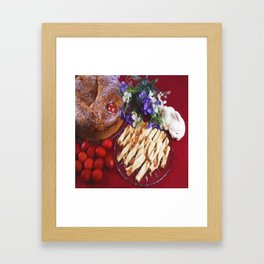 Greek Easter Food Framed Art Print