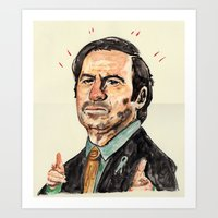 better call saul Art Prints featuring saul! by withapencilinhand