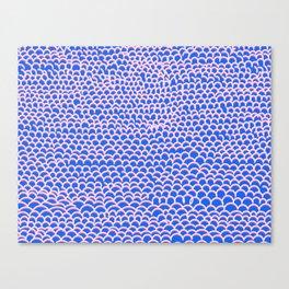 Noodle Doodle Blue Canvas Print