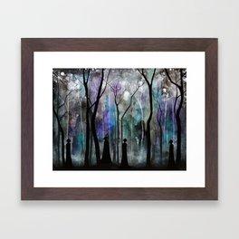 Haunted Forest Framed Art Print