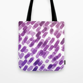 Purple Watercolor Brush Strokes Abdtraction Tote Bag