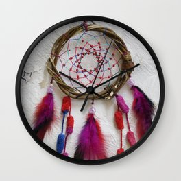 Photo of handmade dreamcatcher Wall Clock