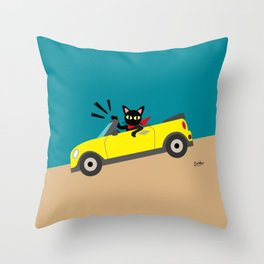 Whim in the car Throw Pillow