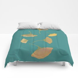 Flying ginkgo Comforters
