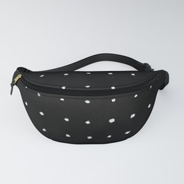 Dot Grid White on Black Fanny Pack