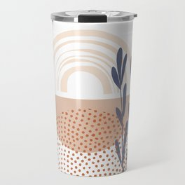 Classic Blue and baked Earth Theme Travel Mug