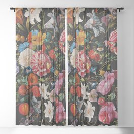 Night Garden XXXVI Sheer Curtain