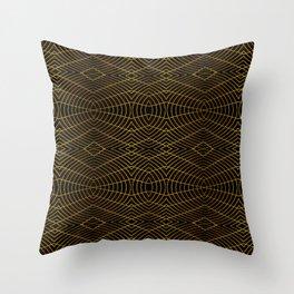 Futuristic Geometric Design Throw Pillow
