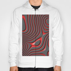 Organic Abstract 01 RED Hoody