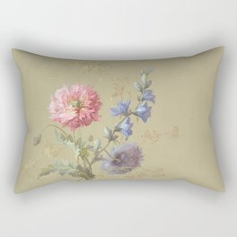 Painted Flower Bouquet Rectangular Pillow