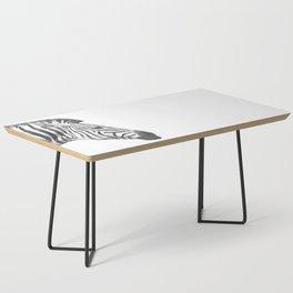 Black and White Zebra Profile Coffee Table
