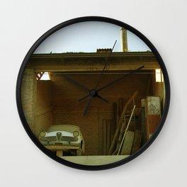 Car in the barn Wall Clock
