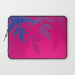 Bisexual Pride Soft Radiance Through Leafy Branches Laptop Sleeve