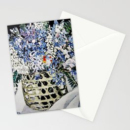 """""""Mixed Flowers in a Basket"""" by Margaret Preston Stationery Cards"""