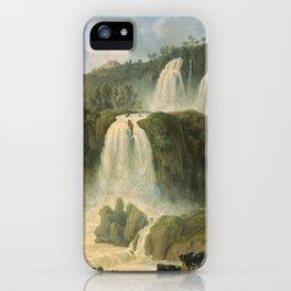 Great Cascades at Tivoli Villa, Rome, Italy by Jakob Philipp Hackert iPhone Case