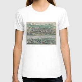 Vintage Map of Jerusalem, Nazareth and Rame Israel T-shirt