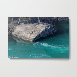 Rock in the Whirlpool Gorge  Metal Print