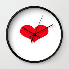 ace of heart Wall Clock
