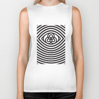 third eye Biker Tanks featuring Third Eye by cmyka