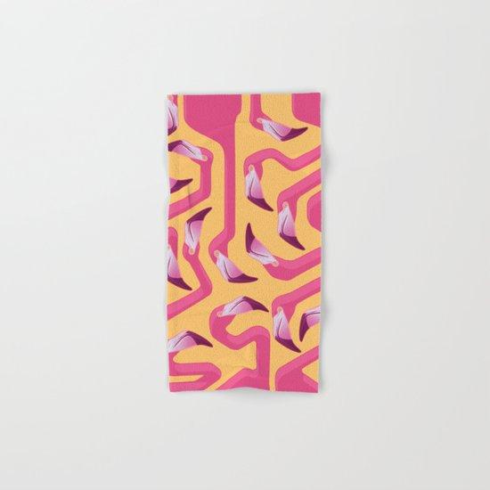 Flamingo Maze Hand & Bath Towel