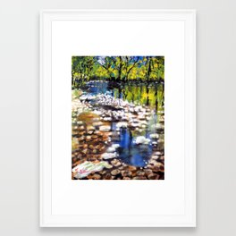 Reflections in the shallow River Framed Art Print