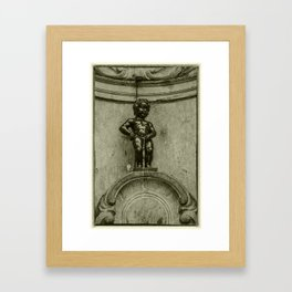 Le Pis Boy  Framed Art Print
