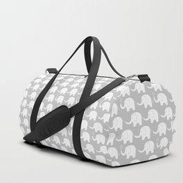 Elephant Parade on Grey Duffle Bag
