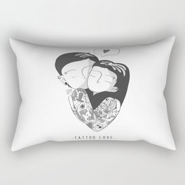 Black and White Love Rectangular Pillow