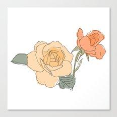 Handdrawn Roses Canvas Print