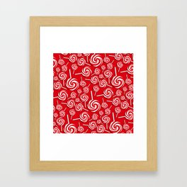 Candy Swirls-Large Framed Art Print