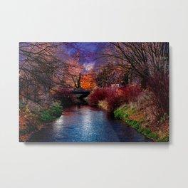 Concept Baden-Wuerttemberg : River Rottum through Laupheim Metal Print