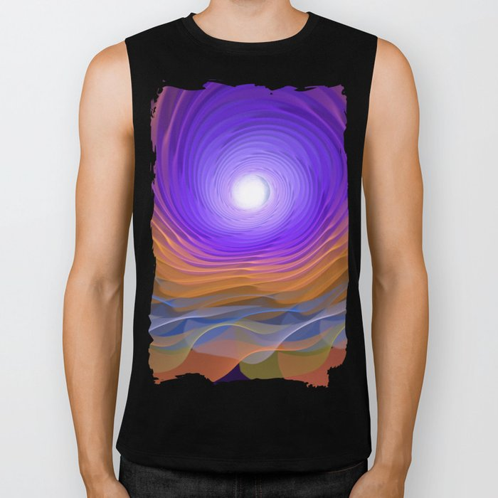 Whispering water and a blue moon Biker Tank