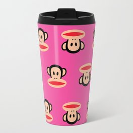 Julius Monkey Pattern by Paul Frank - Pink Travel Mug