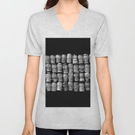 Something Nostalgic 4 Black and White #decor #society6 #buyart Unisex V-Neck