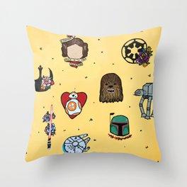 Star Fleet Flash Sheet Throw Pillow