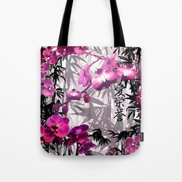 Bamboo Orchids Tote Bag