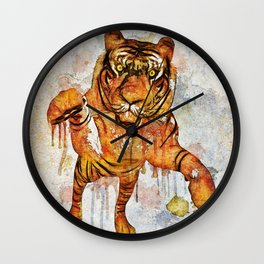 tiger splash ! Wall Clock