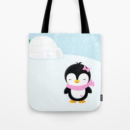 Cute penguin girl  Tote Bag