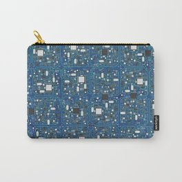 Blue tech Carry-All Pouch