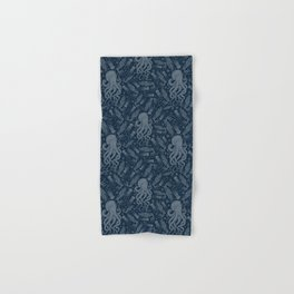 Octopus Squiggly King Of The Sea Pattern Hand & Bath Towel
