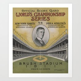 1911 World Series Art Print